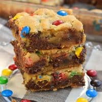 Thick and Chewy M&M'S Chocolate Chip Cookie Bars Recipe