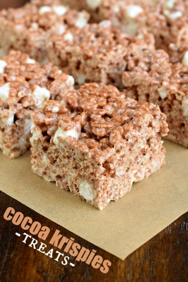 Get the tips and tricks to making the most PERFECT Cocoa Krispie Treats. Kid and adult friendly! THICK AND CHEWY! #ricekrispietreat #chocolate #cocoakrispies
