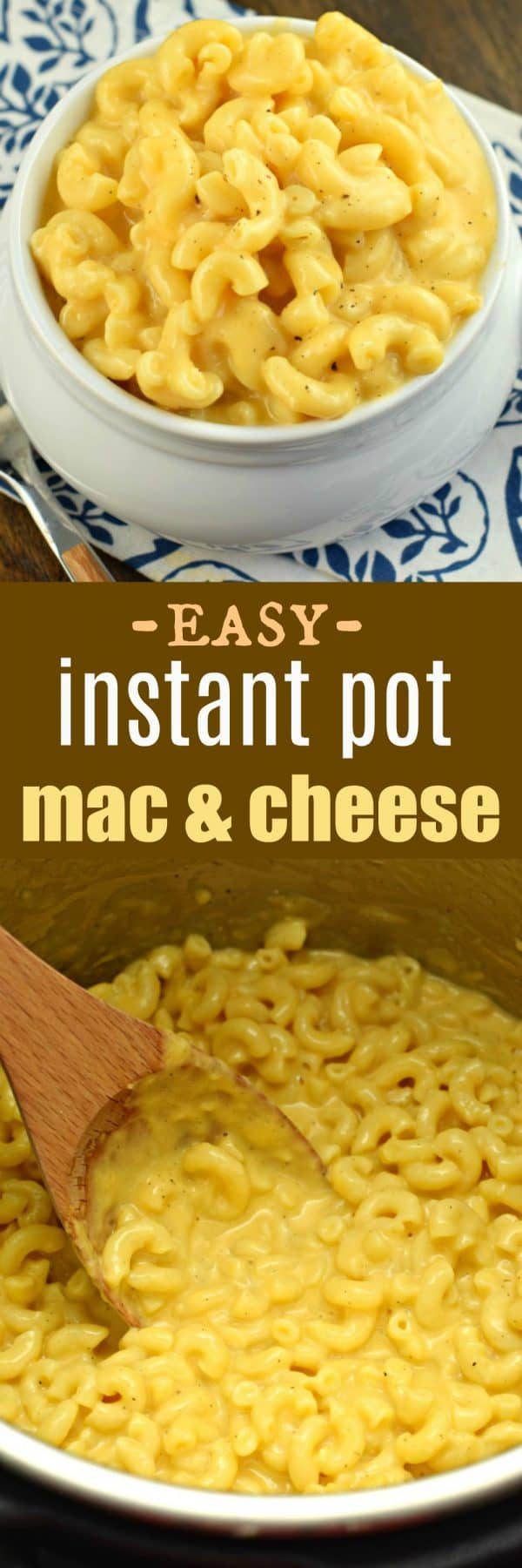 Instant Pot Mac and Cheese Recipe: creamy, delicious, ready in 10 minutes! #pressurecooker #instantpot #macaroni #cheese