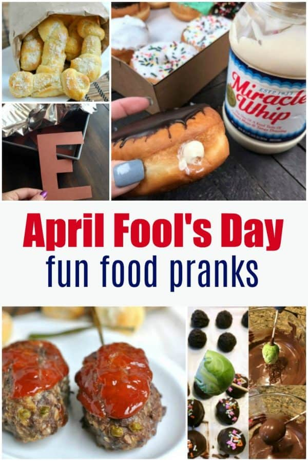 Looking for some fun April Fool's Day pranks with food? I've got a bunch of ideas whether you want something gross, funny, or innocent! #aprilfoolsday #pranks