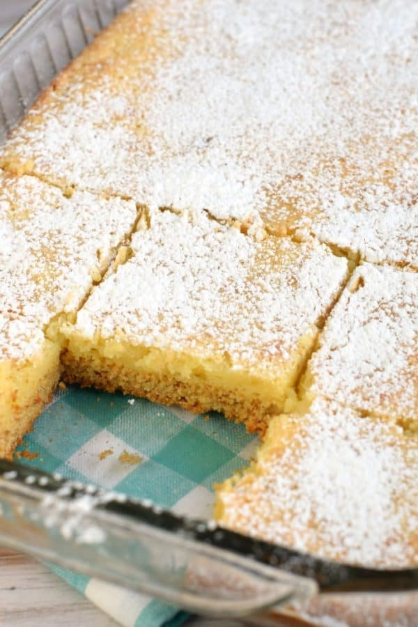 Gooey Butter Cake recipe with a cake mix! Easy, delicious!