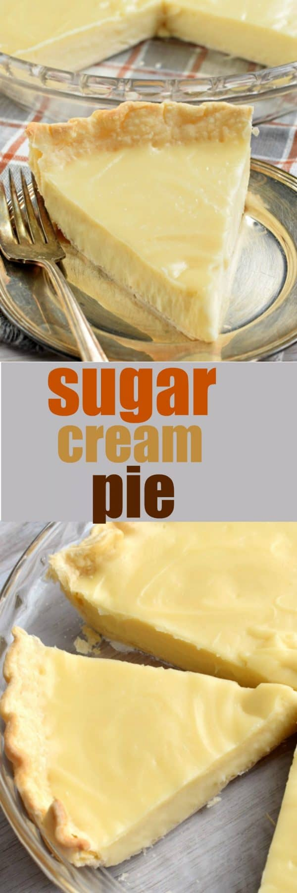 Flaky pie crust filled with a creamy, sweet filling. This classic Hoosier Sugar Cream Pie recipe is a must try!