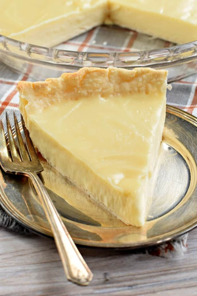Creamy and sweet, this Sugar Cream Pie is a Hoosier favorite!