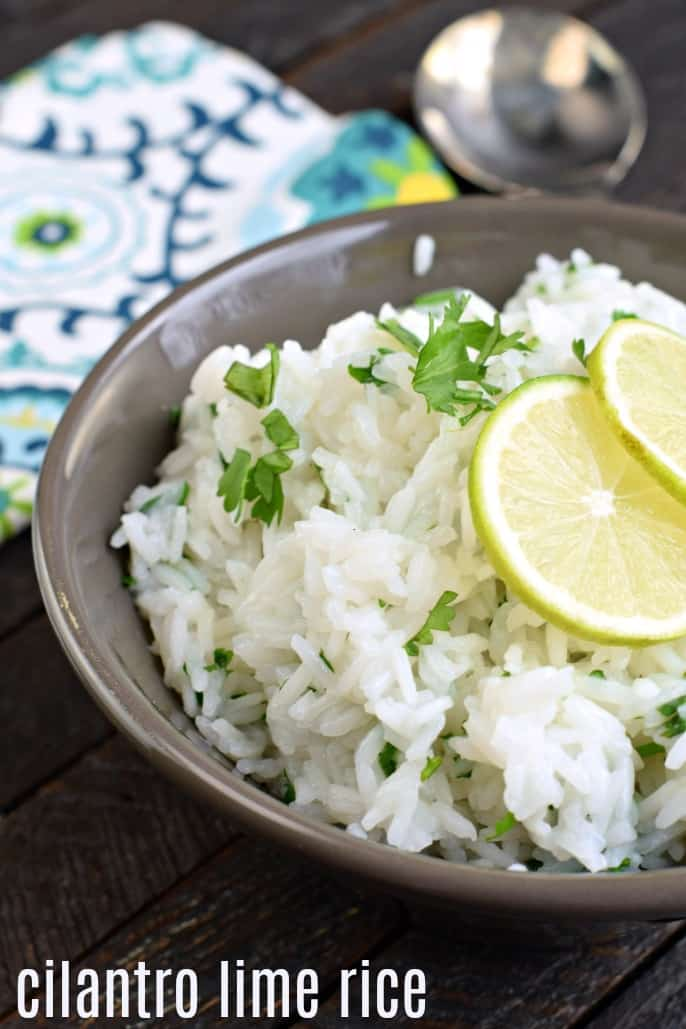 Colorful and packed with flavor, you'll love this Copycat Chipotle Cilantro Lime Rice recipe. It's the perfect side to any tex-mex meal!