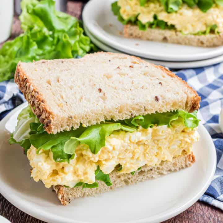 The Best Egg Salad recipe should be easy, creamy, and perfect for sandwiches! This Classic Egg Salad is my childhood favorite! Only five ingredients for this simple recipe.
