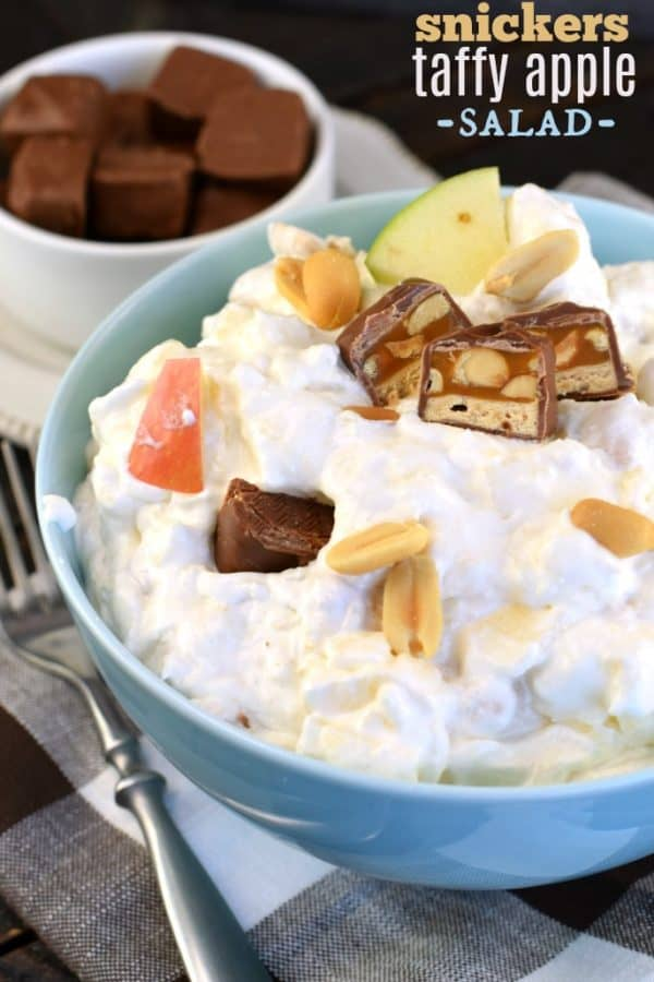This Snicker Caramel Apple Salad recipe is the perfect dessert for your next potluck. Everyone loves this Snicker Salad all year long.