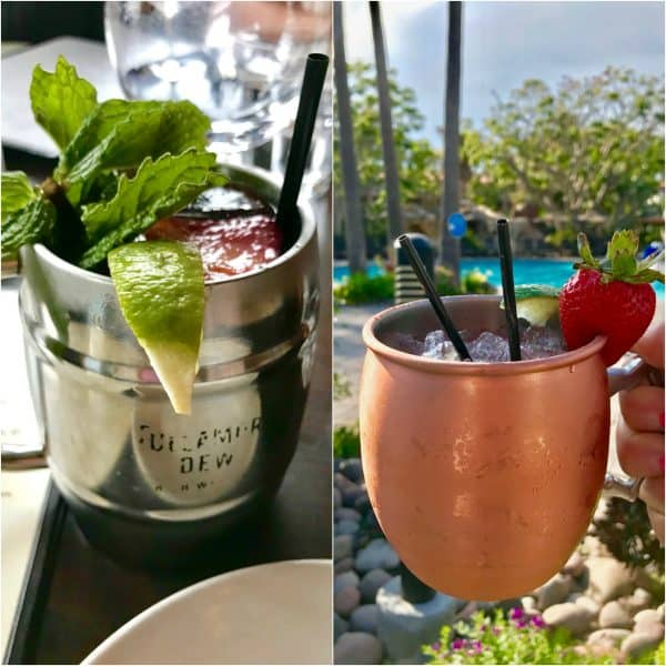 Strawberry Moscow Mules in Oxnard, California