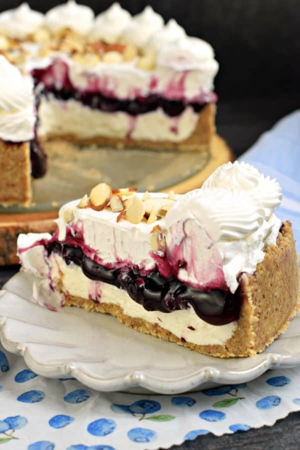 Easy No Bake Blueberry Cheesecake Recipe Shugary Sweets