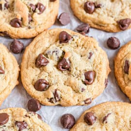 This soft and chewy Chocolate Chip Pudding Cookies recipe is my new favorite, go-to cookie treat. You'll love how easy it is to make, everyone else will love how amazing they taste! And the secret ingredients makes these chocolate chip cookies soft for days!