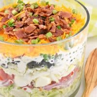 Easy Traditional Seven Layer Salad Recipe {Southern Potluck Classic}