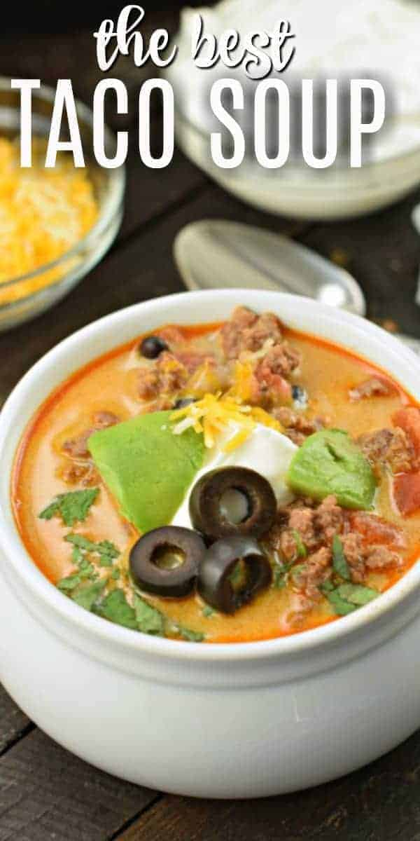 This Easy Instant Pot Taco Soup Recipe is the perfect weeknight dinner idea. Packed with flavor, your family is going to ask for this again and again!