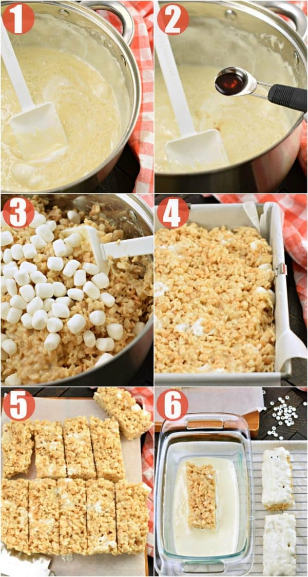 Step by Step how to make halloween rice krispie treats