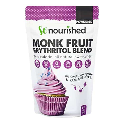 Powdered Monk Fruit Sweetener with Erythritol Confectioners (1 lb / 16 oz) - Perfect for Diabetics & Low Carb Dieters - 1:1 Sugar Replacement - No Calorie Sweetener, Non-GMO, Natural Sugar Substitute