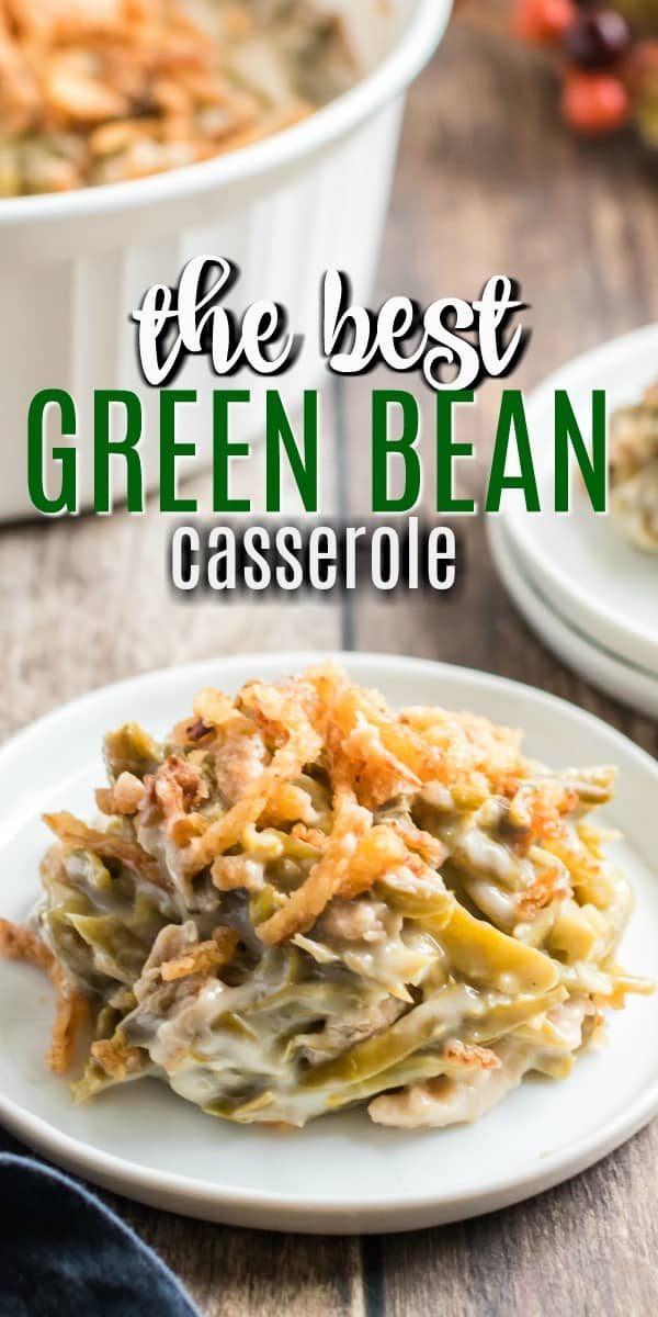 Green Bean Casserole is a holiday side dish that tastes amazing and is easy to assemble. Creamy mushroom soup with crispy fried onions pack flavor into this delicious classic recipe!