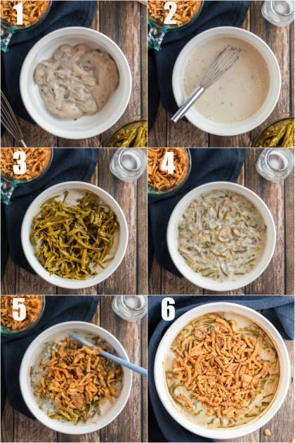 How to make green bean casserole, step by step photos