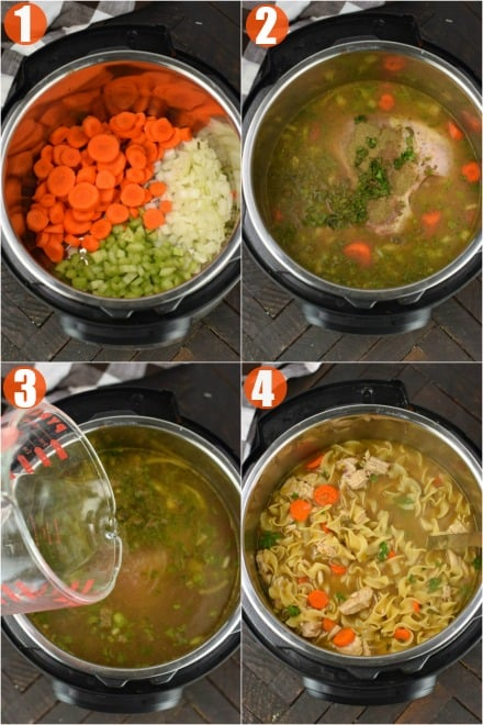 how to make chicken noodle soup image step by step
