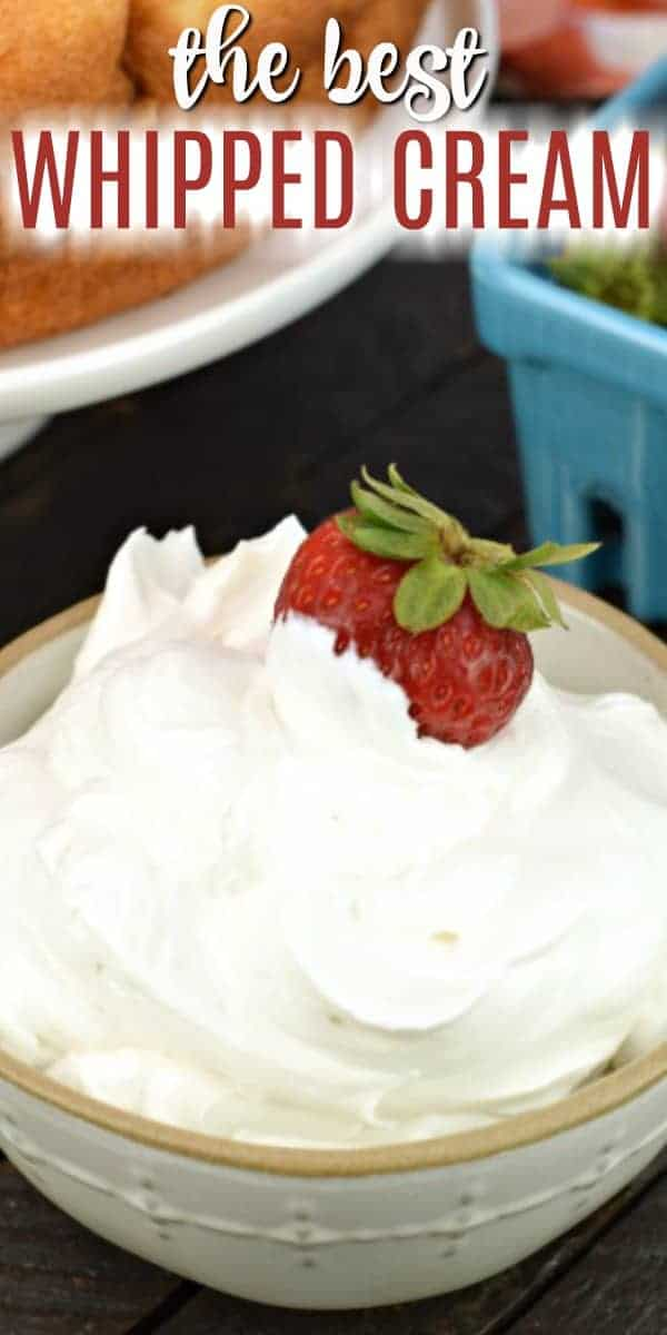 Learn how to make whipped cream with this easy, versatile homemade whipped cream recipe. 3 simple ingredients are all you need!