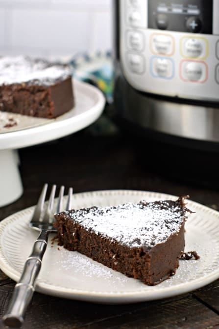 Fudgy, chocolate Brownies in the Instant Pot. You'll love this easy recipe for moist and chewy chocolate brownies!