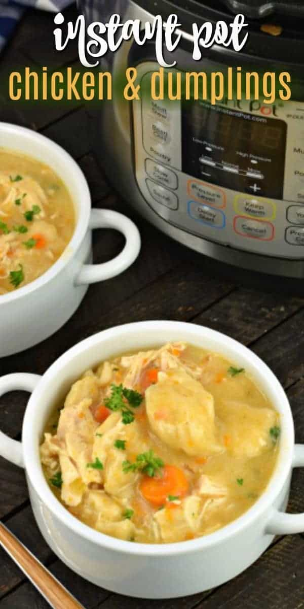 Instant Pot Chicken and Dumplings are a hearty, old-fashioned dinner that the whole family will love. Made easy with this pressure cooker recipe!