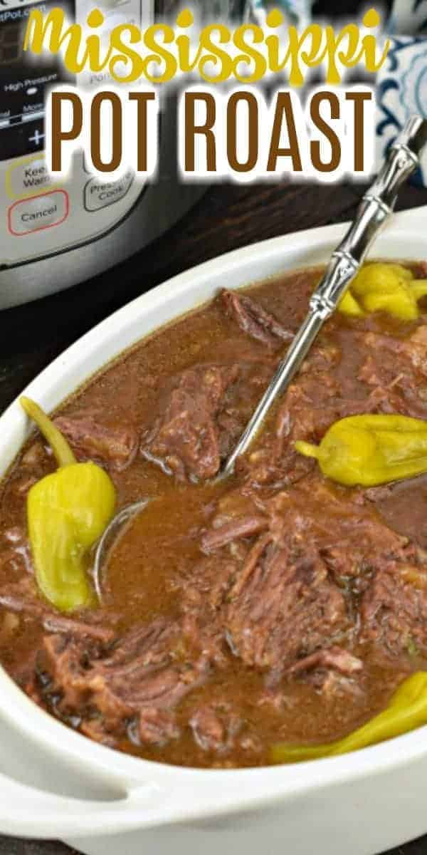 Tender, flavorful Instant Pot Mississippi Pot Roast is perfect for weeknight dinners or family gatherings. You'll love the simple, easy, dump and go Instant Pot recipe!