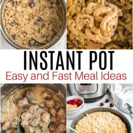 Collage photo of Instant Pot recipes.
