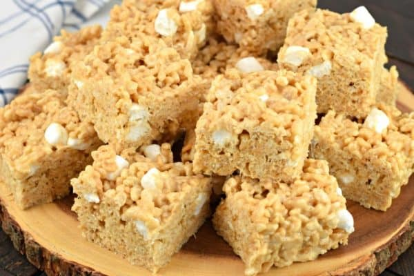 Thick and chewy, these Peanut Butter Rice Krispie Treats are a family favorite recipe! You'll love how easy they are to make with my tips and tricks.