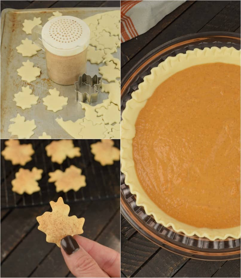 Step by step photos on how to make pumpkin pie.