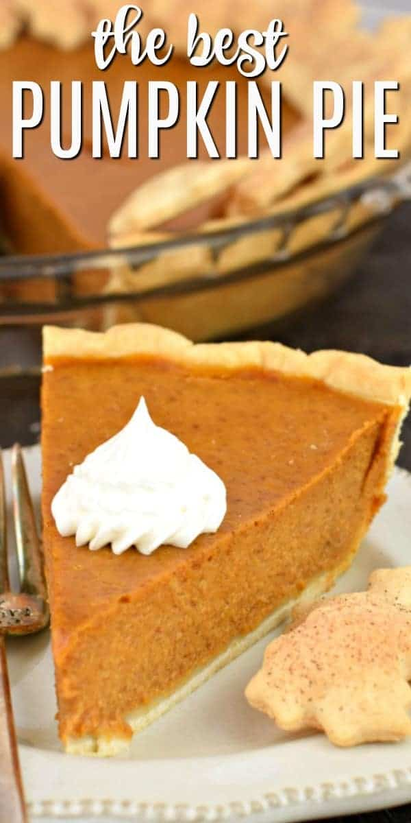 The best (and easiest) Pumpkin Pie recipe you'll need this holiday season. Make Thanksgiving dessert in no time at all with this delicious pie recipe!