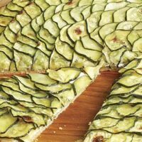 Zucchini Tart with Lemon Thyme and Goat Cheese - Recipe