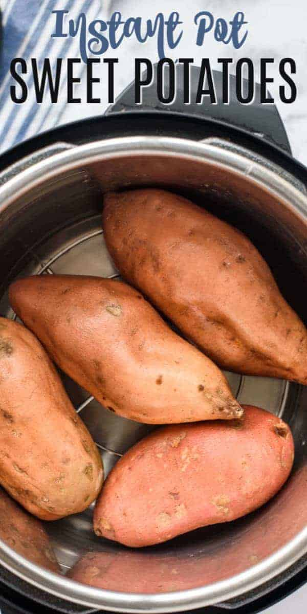 Learn how to make easy and delicious Sweet Potatoes in the Instant Pot. Creamy and perfect, and better than oven baked sweet potatoes!