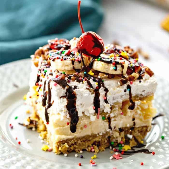 No Bake Banana Split Cake {Southern Style}