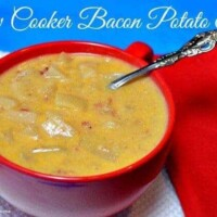 Slow Cooker Cheesy Bacon Potato Soup
