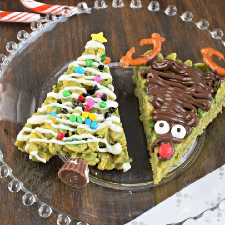 Fun, festive and full of chewy peanut butter taste, Holiday Scotcheroos are a must try! The kids will love helping you decorate these easy family friendly treats.