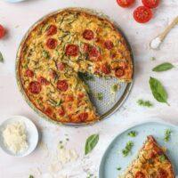 Zucchini Pie Recipe - Zucchini Pie with Burst Tomatoes