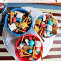 Patriotic Snack Mix Quick, Easy, No-Bake