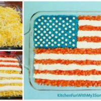 7 LAYER FLAG DIP - This Patriotic Taco Dip Is Always A Hit For 4th Of July Parties