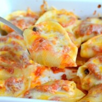Creamy Salsa Chicken Stuffed Shells