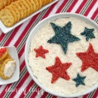 Patriotic Appetizer - Snack Dip for Fourth of July Party