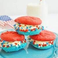 How to make Easy Patriotic Cookies from a cake mix