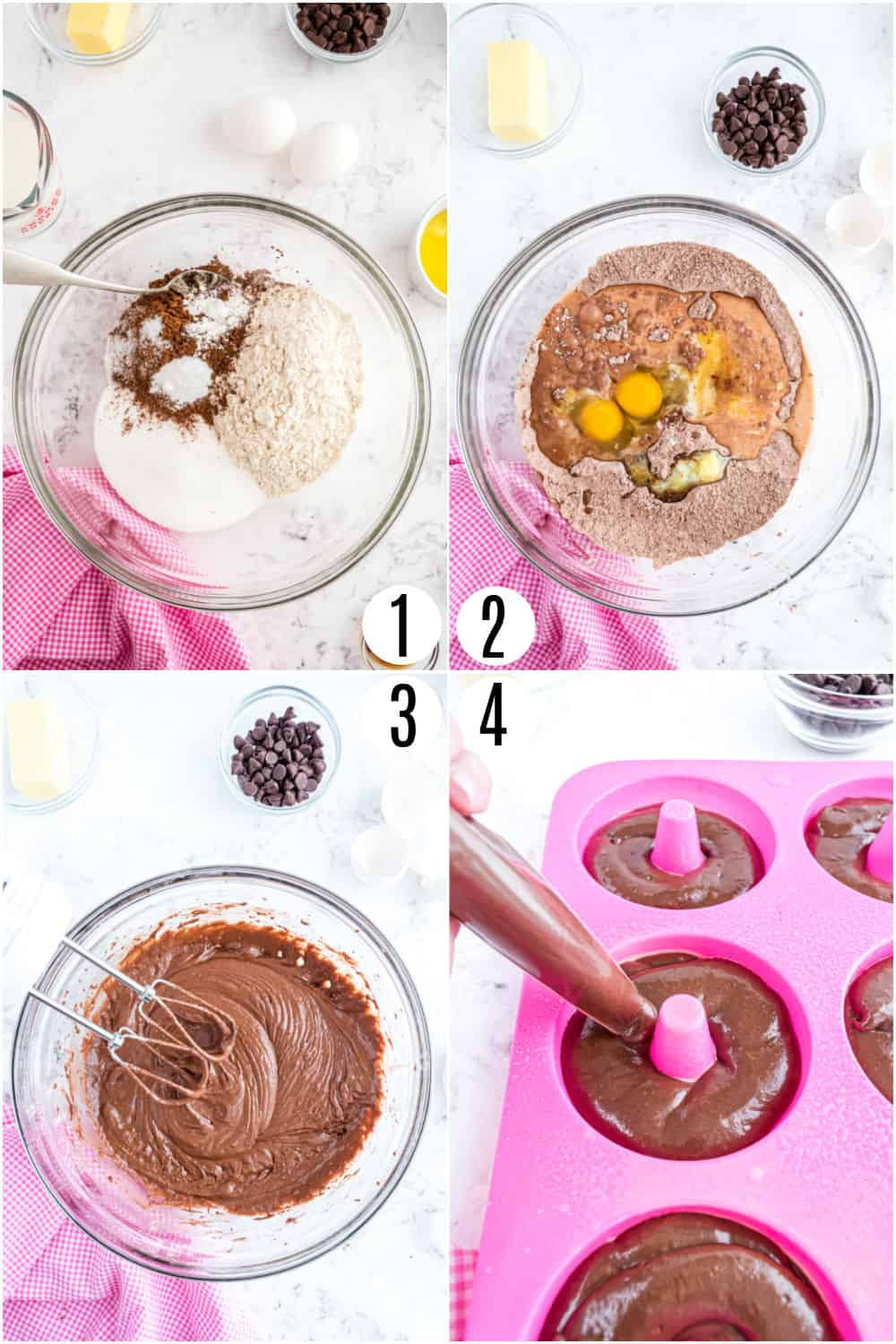 Step by step photos showing how to make