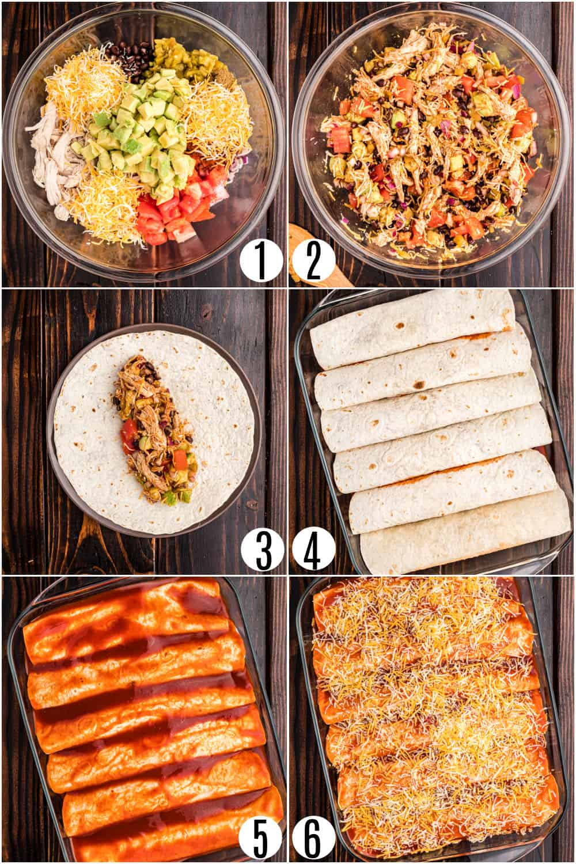 Step by step instructions for homemade enchiladas.