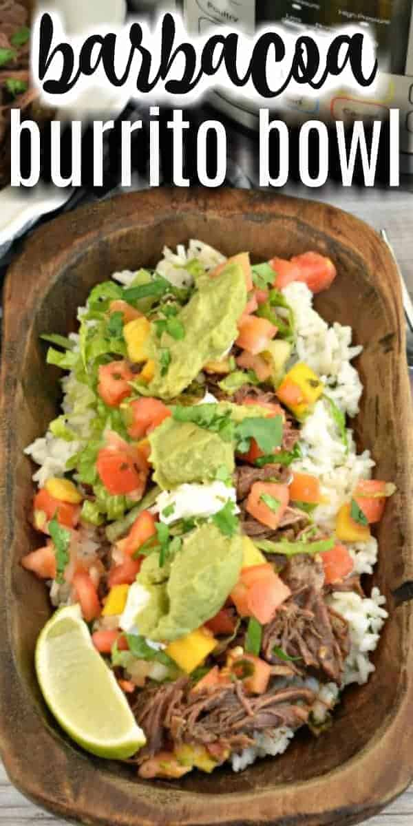 This Instant Pot Barbacoa Beef recipe is guaranteed to be the highlight of taco tuesdays! Serve this fork tender, smoky, spicy beef in a burrito bowl or on a tortilla!