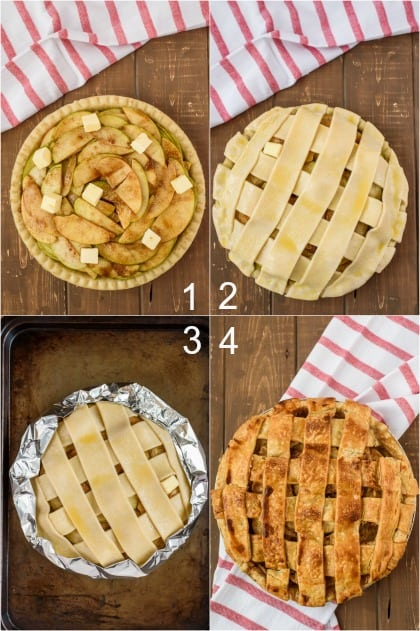 Step by Step photos for making apple pie