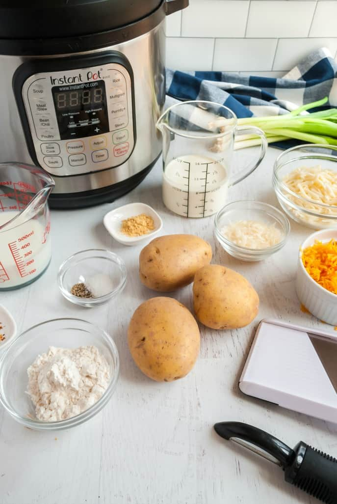 Ingredients needed for Au Gratin Potatoes