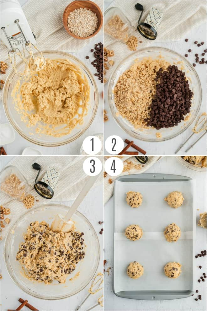 Step by step photos to make Doubletree chocolate chip cookie recipe.
