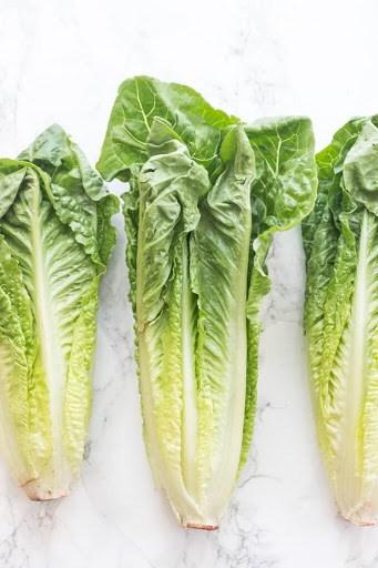 3 stalks of romaine lettuce