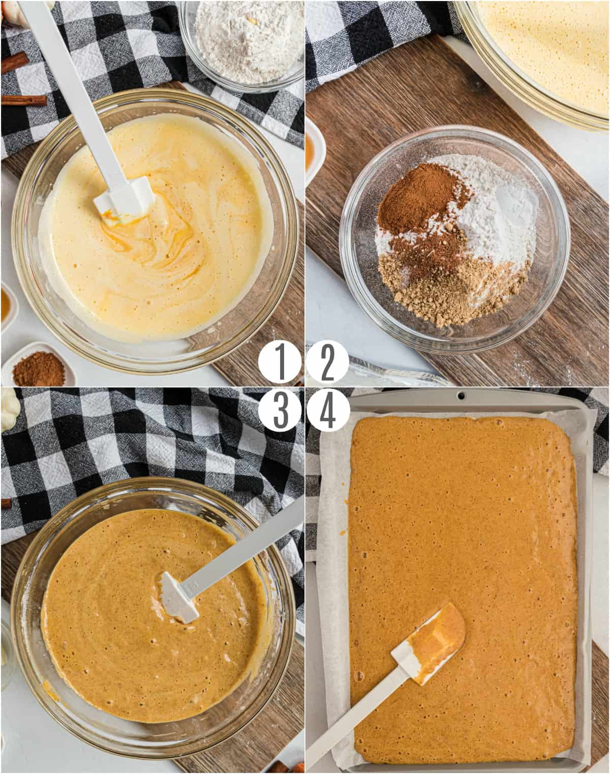 Step by step instructions to make a pumpkin cake roll.