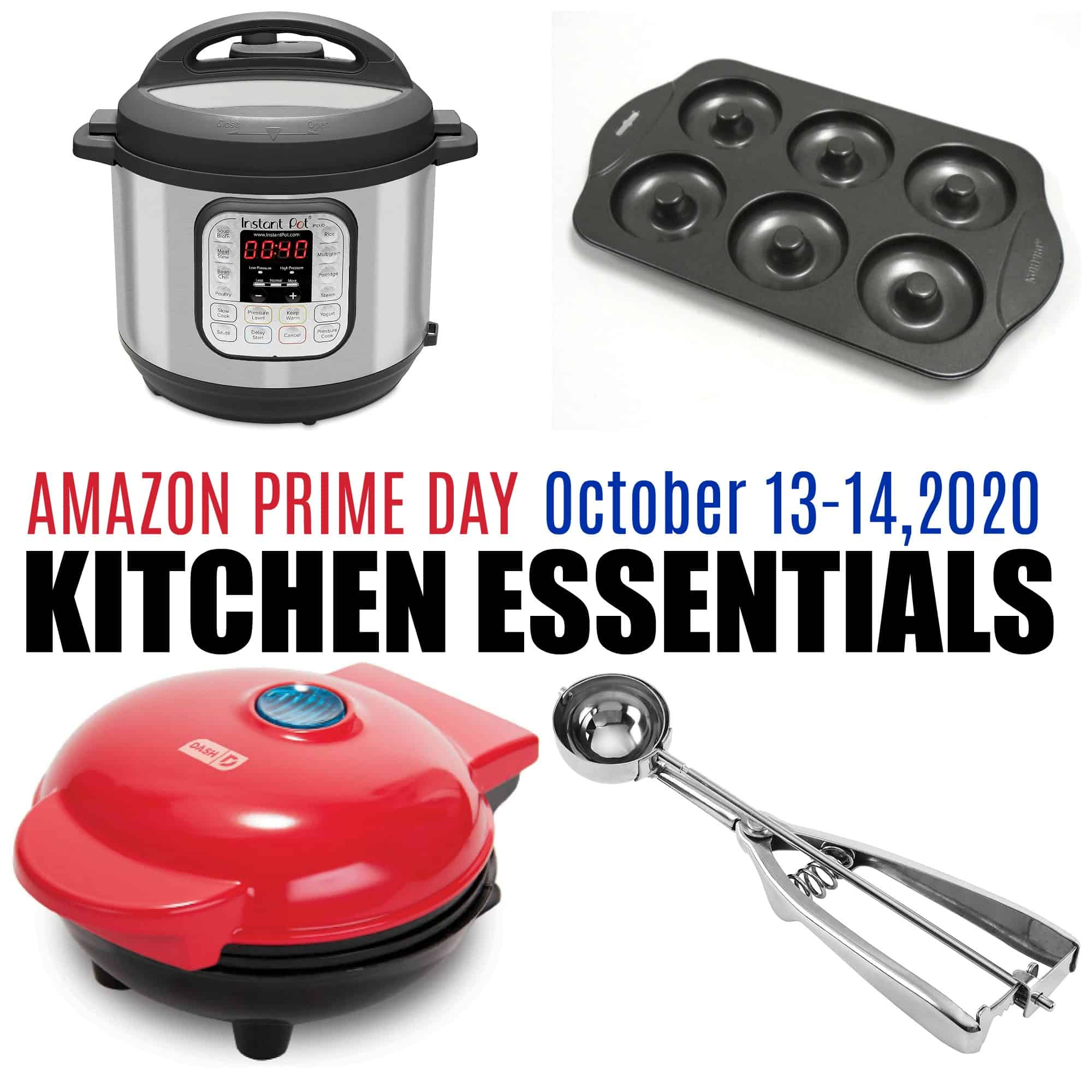 Four basic kitchen essentials, including instant pot, donut pan, and more.