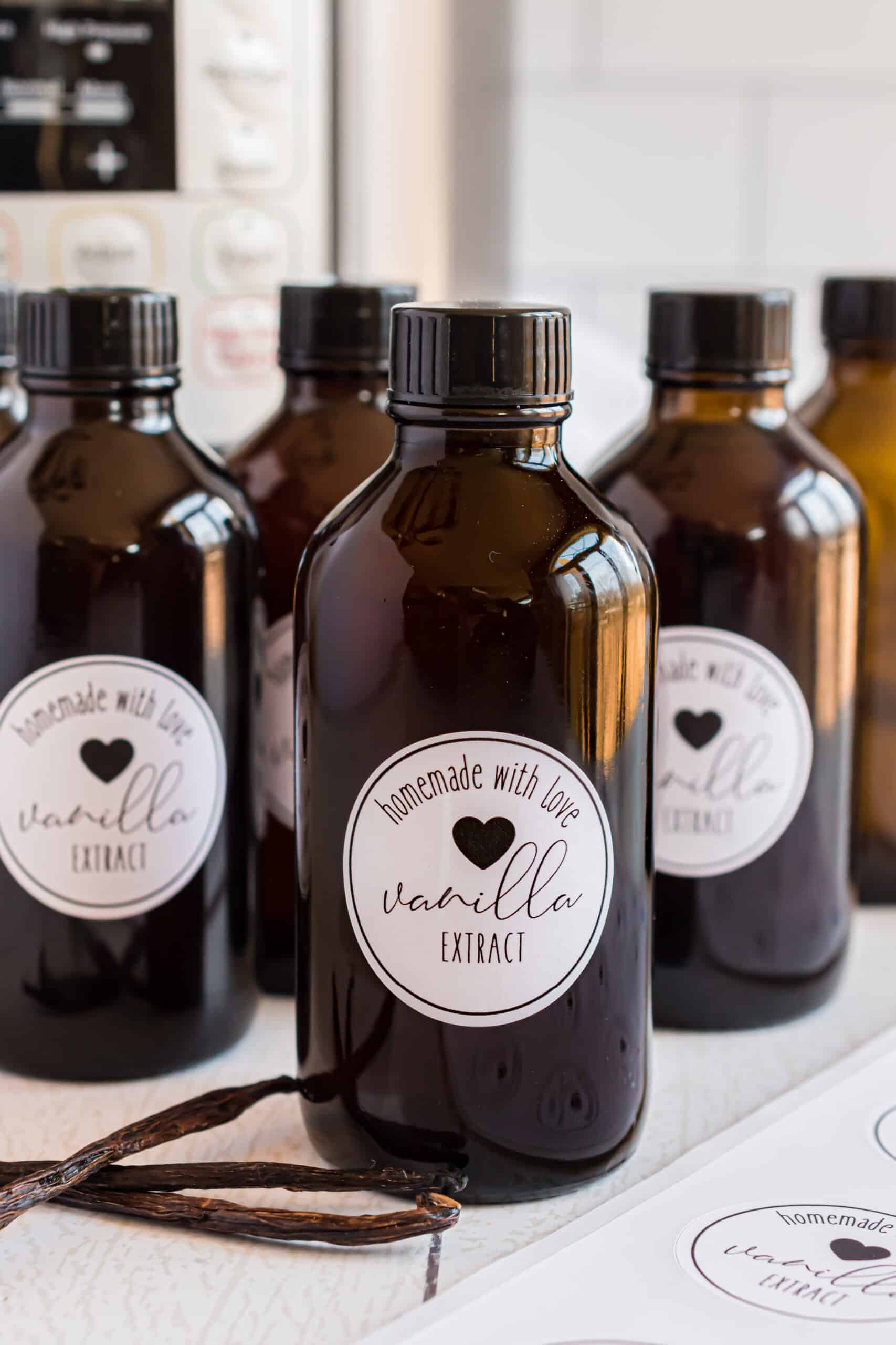 Vanilla extract made in the Instant Pot.