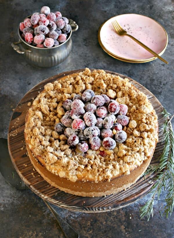 Cranberry cheesecake.
